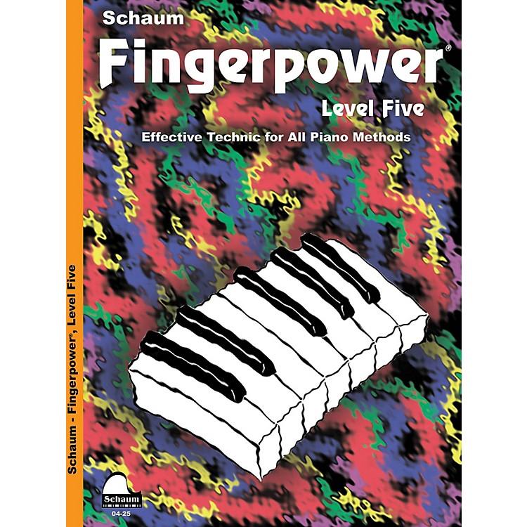 SCHAUMFingerpower - Level 5 Educational Piano Series Softcover Written by John W. Schaum