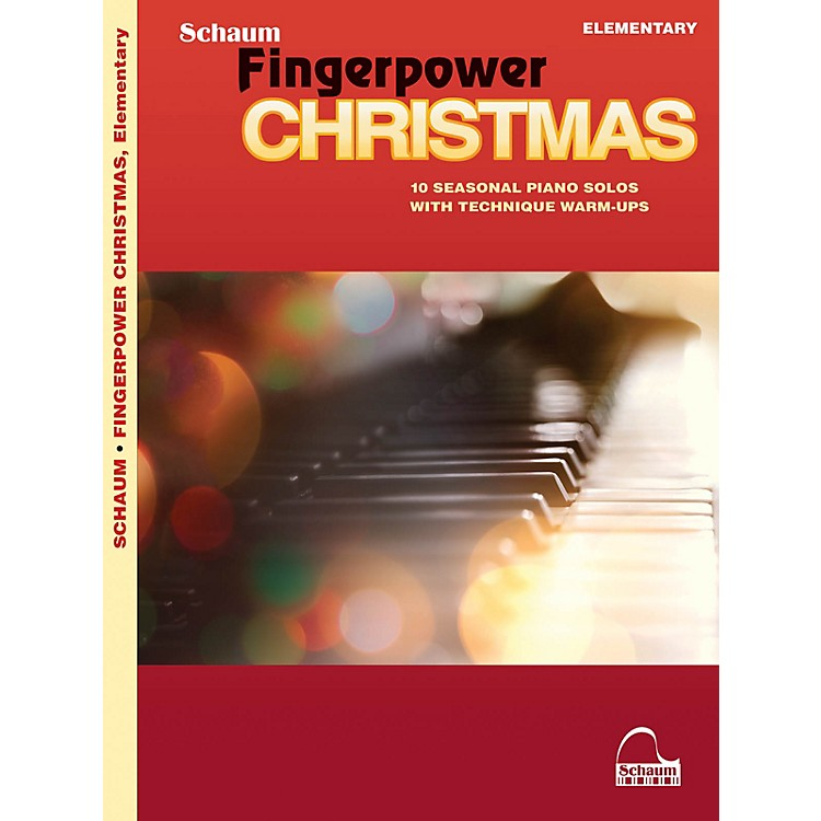 SCHAUMFingerpower Christmas - 10 Seasonal Piano Solos with Technique Warm-Ups