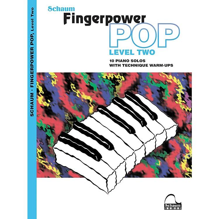 SCHAUMFingerpower Pop - Level 2 (10 Piano Solos with Technique Warm-Ups) Book