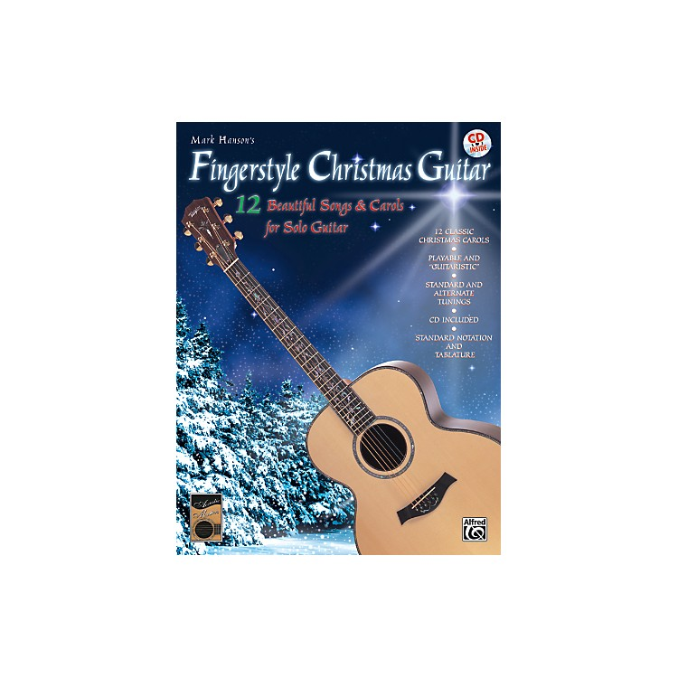 AlfredFingerstyle Christmas Guitar Book & CD