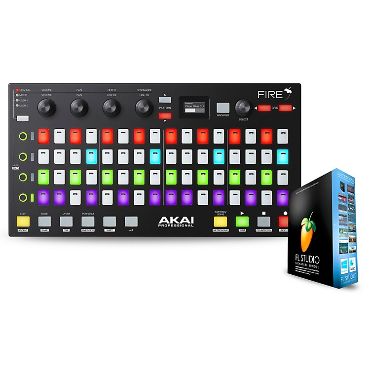 Akai ProfessionalFire FL Studio Controller with FL Studio Signature Bundle Box