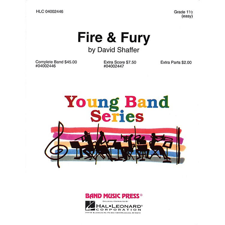 Band Music PressFire & Fury Concert Band Level 1 1/2 Composed by David Shaffer
