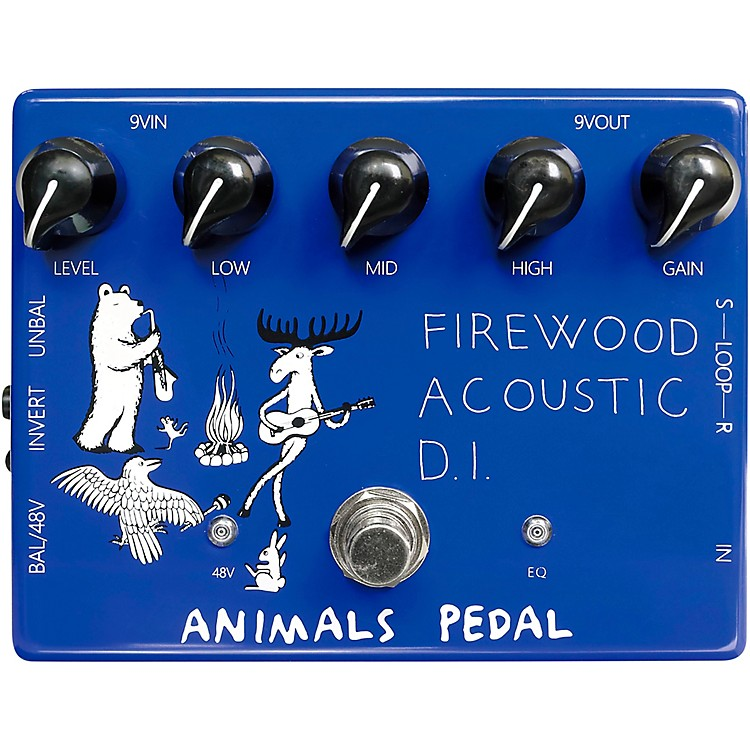 Animals Pedal Firewood Acoustic D.I. Effects Pedal