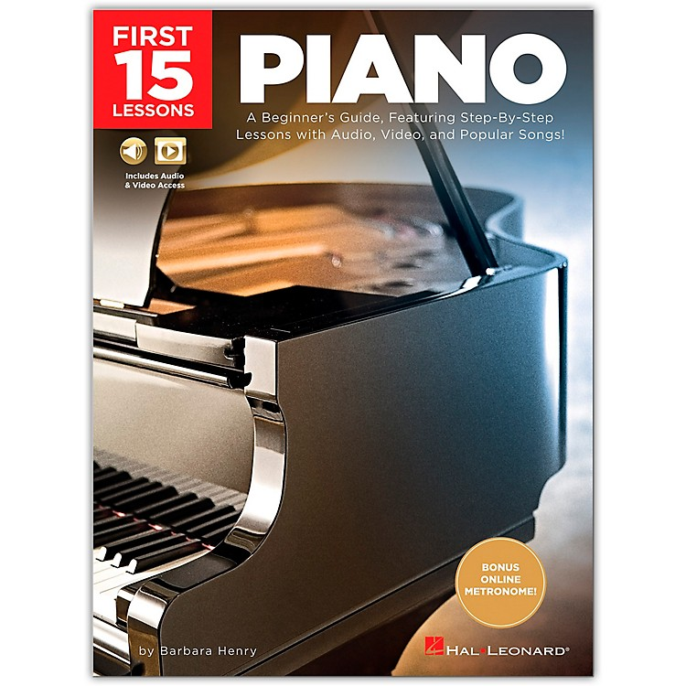Hal Leonard First 15 Lessons Piano - A Beginner's Guide, Featuring Step-By-Step Lessons with Audio, Video, and Popular Songs! Book/Media Online