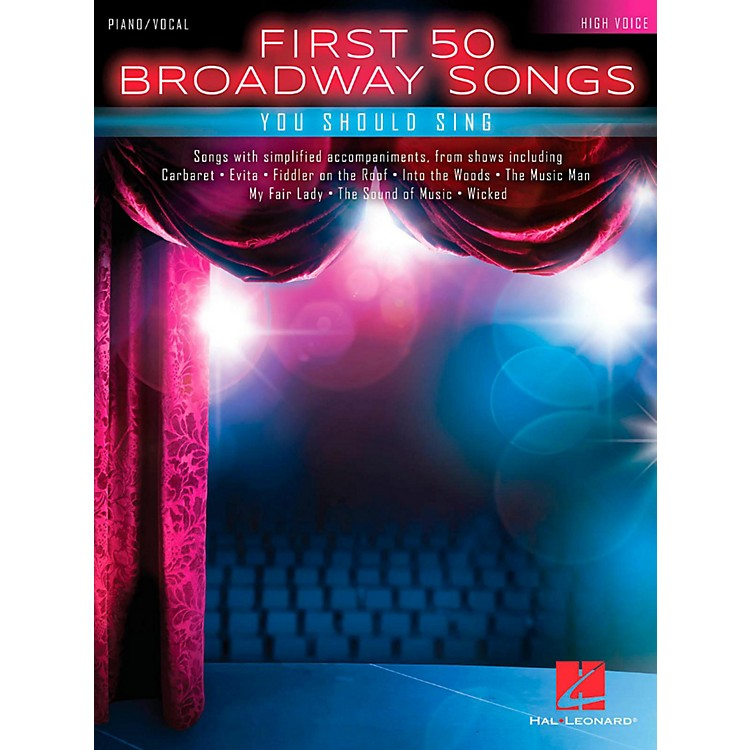 Hal LeonardFirst 50 Broadway Songs You Should Sing - High Voice
