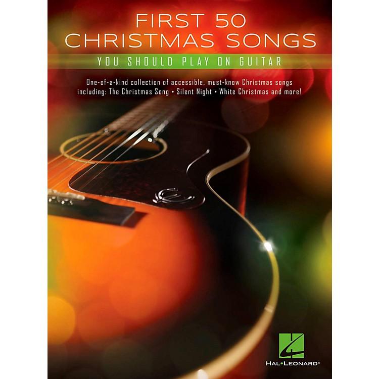 Hal LeonardFirst 50 Christmas Songs You Should Play On Guitar