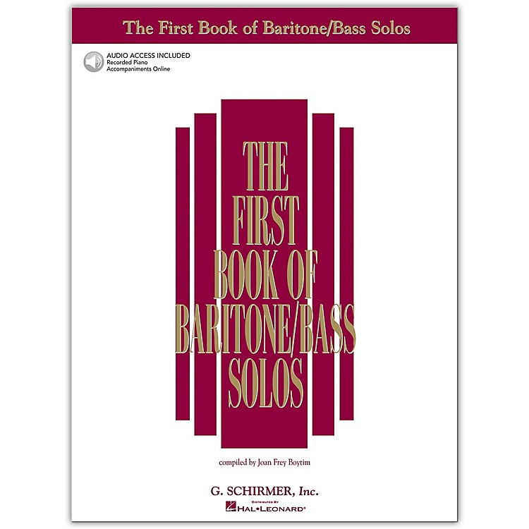 G. SchirmerFirst Book/Online Audio Of Baritone  /Bass Solos Book/Online Audio