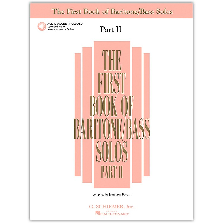 G. Schirmer First Book/Online Audio Of Baritone / Bass Solos Part 2 Book/Online Audio