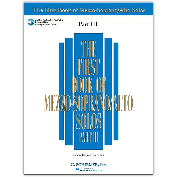 G. SchirmerFirst Book/Online Audio Of Mezzo-Soprano / Alto Solos Part III Book/Online Audio