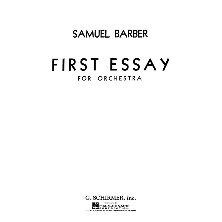 barber second essay for orchestra program notes
