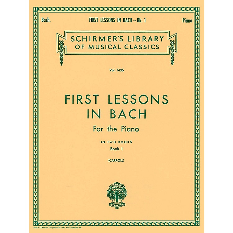 G. Schirmer First Lessons In Bach Bk 1 Piano Solo 16 Short Pieces