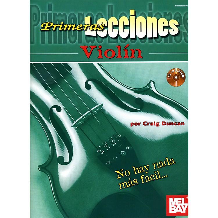 Mel BayFirst Lessons Violin Spanish Edition Book/CD Set