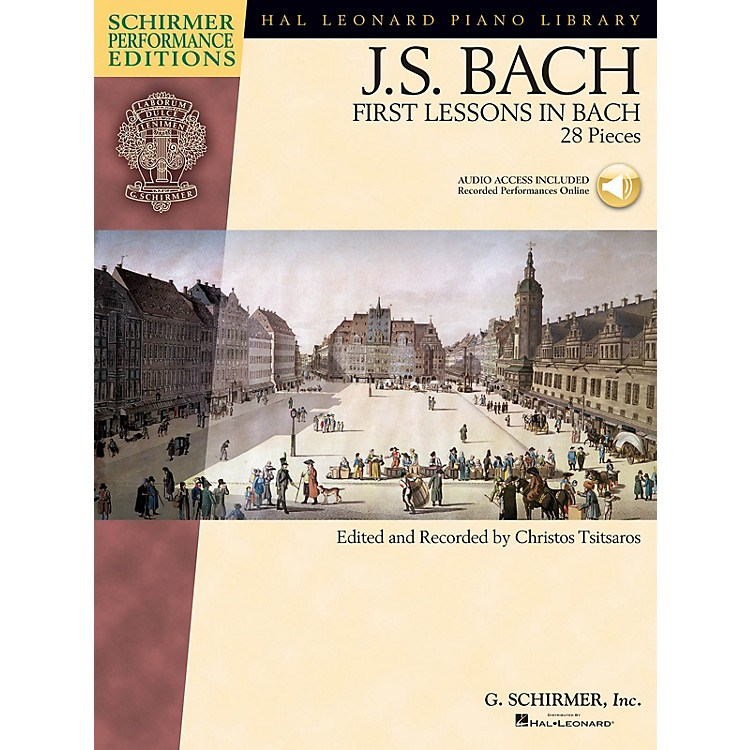 G. SchirmerFirst Lessons in Bach (28 Pieces) Schirmer Performance Editions Book/Audio Online (Elem to Intermediate)