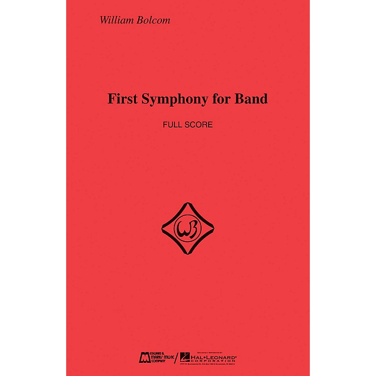 Edward B. Marks Music CompanyFirst Symphony for Band (Score Only) Concert Band Composed by William Bolcom