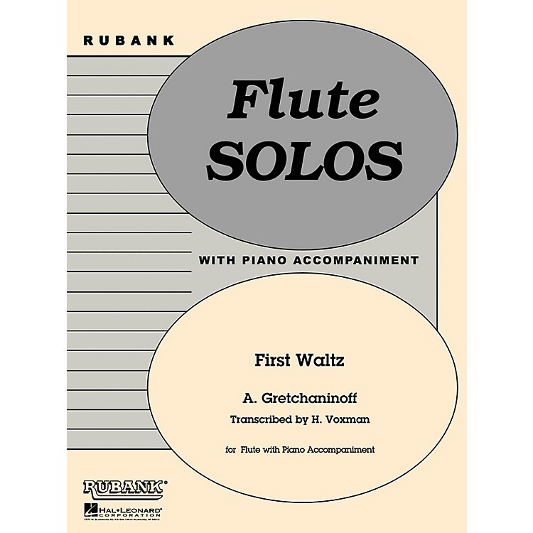 Rubank Publications First Waltz (Flute Solo with Piano - Grade 1) Rubank Solo/Ensemble Sheet Series