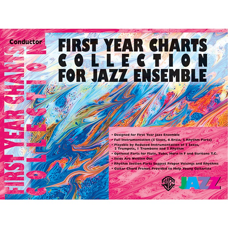 AlfredFirst Year Charts Collection for Jazz Ensemble 1st B-Flat Tenor Saxophone