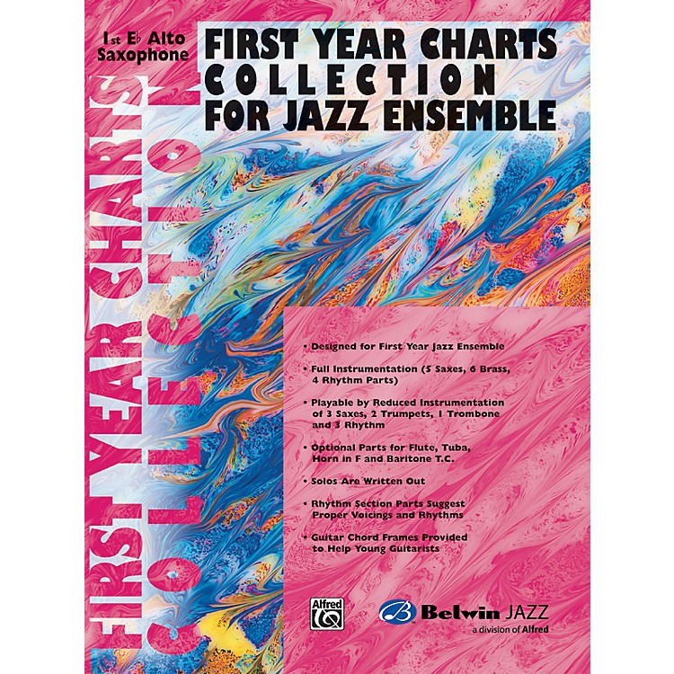 AlfredFirst Year Charts Collection for Jazz Ensemble 1st E-Flat Alto Saxophone