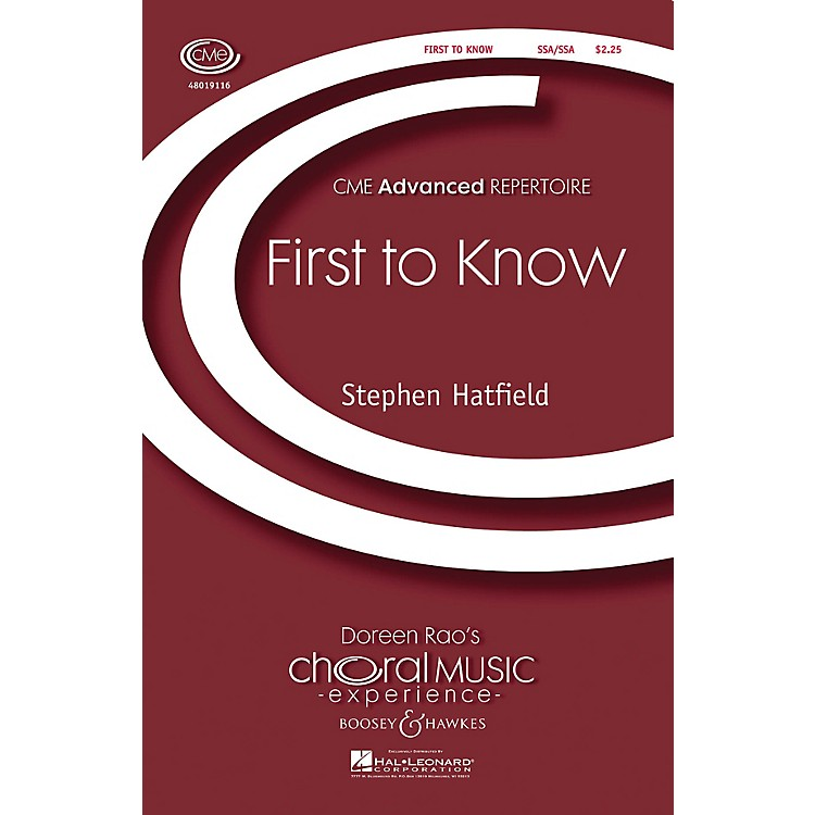 Boosey and HawkesFirst to Know SSA/SSA