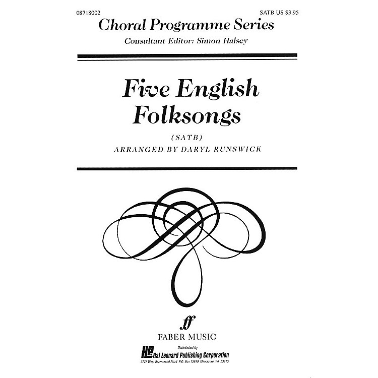 Faber Music LTDFive English Folksongs (Collection) Faber Program Series Series Edited by Daryl Runswick