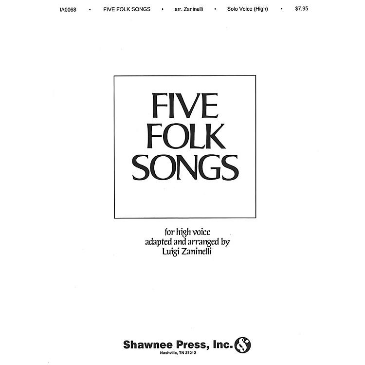 Shawnee PressFive Folk Songs High Voice