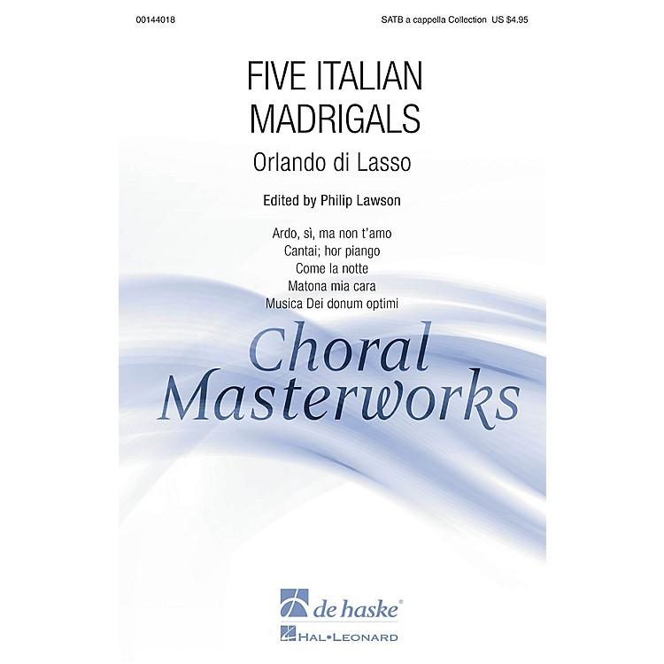 De Haske MusicFive Italian Madrigals (Collection) SATB A CAPPELLA COLLECTION arranged by Philip Lawson