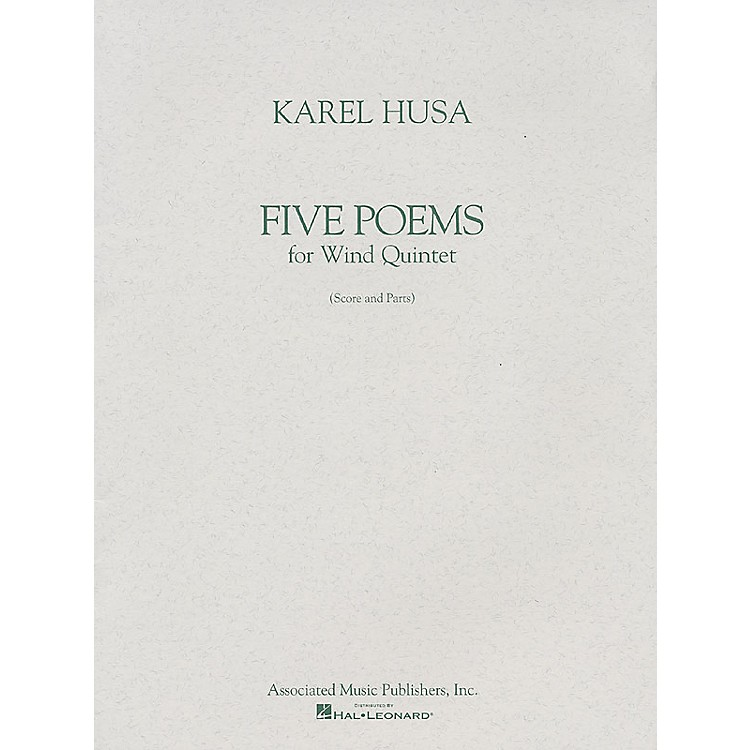 AssociatedFive Poems for Wind Quintet (Score and Parts) Woodwind Ensemble Series Composed by Karel Husa
