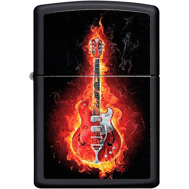 ZippoFlaming Guitar Lighter - Black Matte