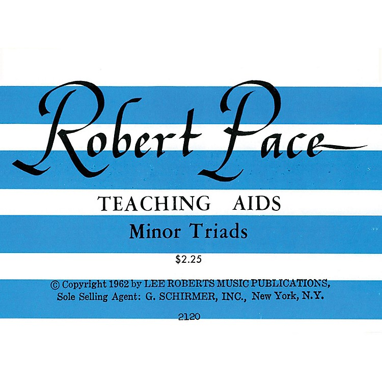 Lee RobertsFlash Cards, Minor Triads Pace Piano Education Series