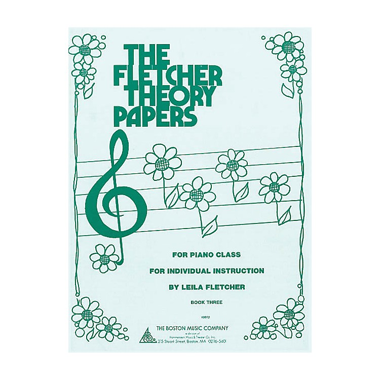 Boston MusicFletcher Theory Papers (Book 3) Music Sales America Series Softcover Written by Leila Fletcher