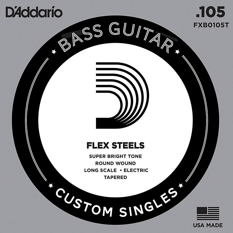 D'AddarioFlexSteel Long Scale Tapered Single Bass Guitar String (.105)