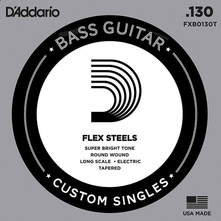 D'AddarioFlexSteel Long Scale Tapered Single Bass Guitar String (.130)
