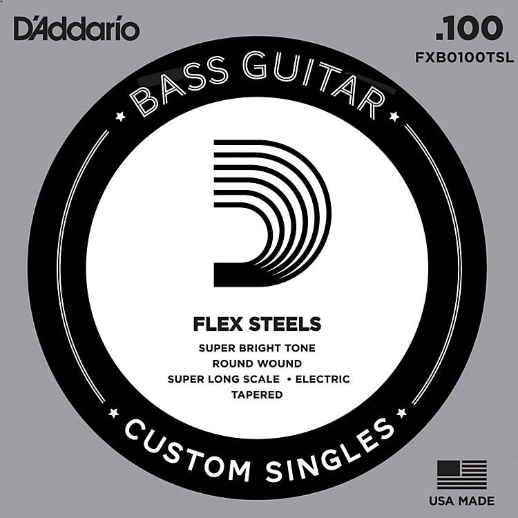 D'AddarioFlexSteel Super Long Scale Tapered Single Bass Guitar String (.100)