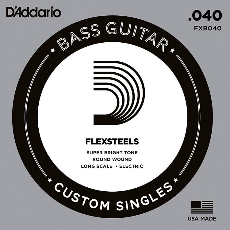 D'AddarioFlexSteels Long Scale Bass Guitar Single String (.040)