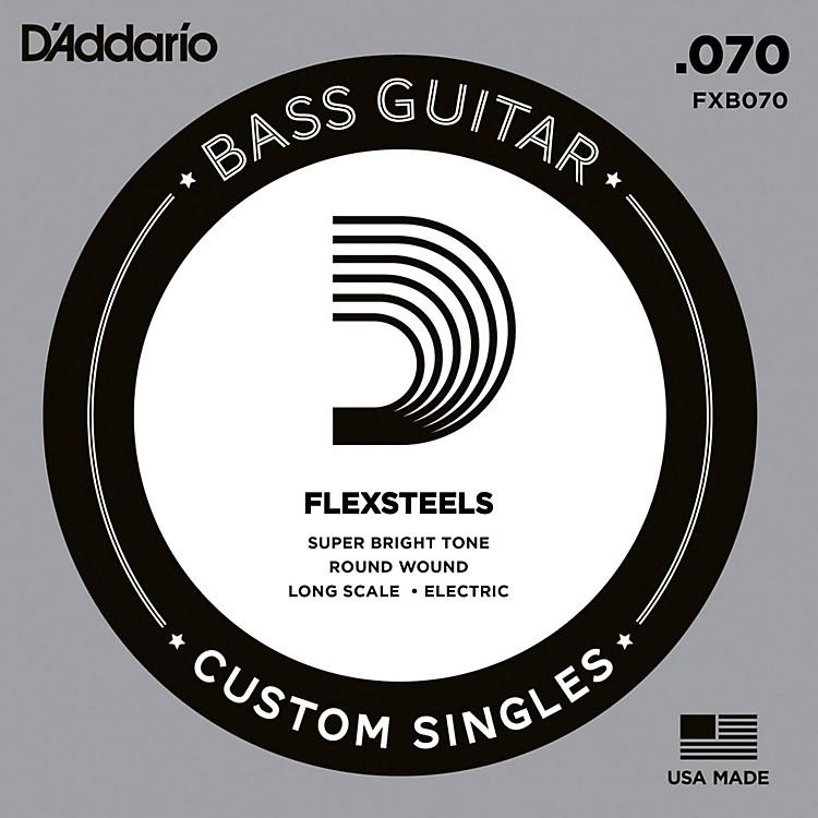 D'AddarioFlexSteels Long Scale Bass Guitar Single String (.070)
