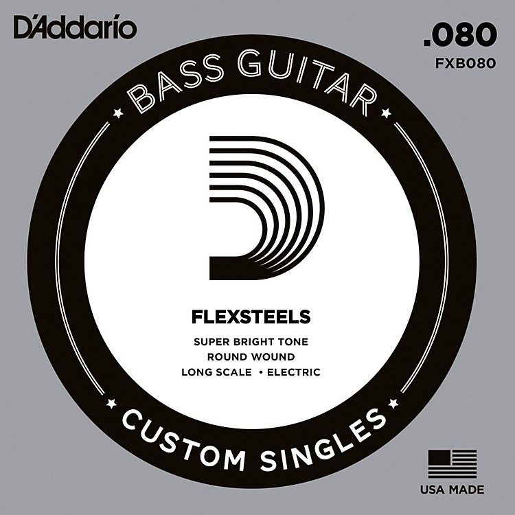 D'Addario FlexSteels Long Scale Bass Guitar Single String (.080)