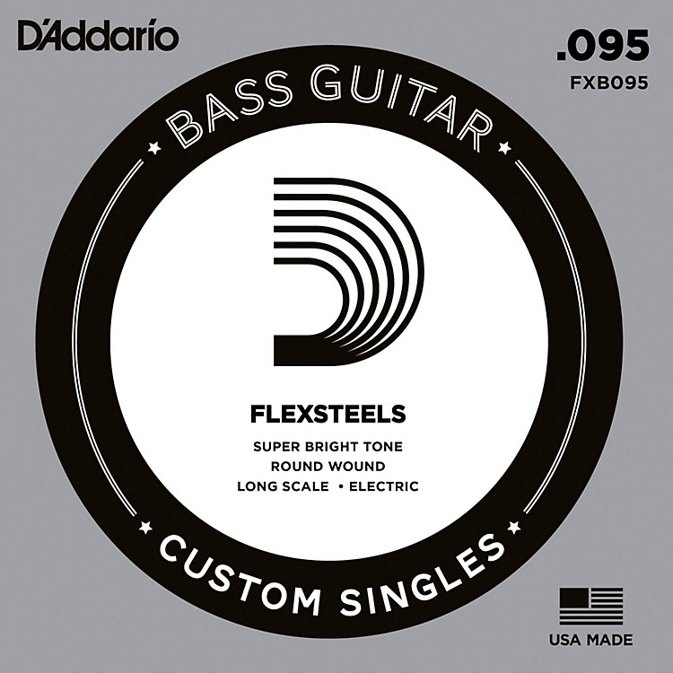 D'Addario FlexSteels Long Scale Bass Guitar Single String (.095)