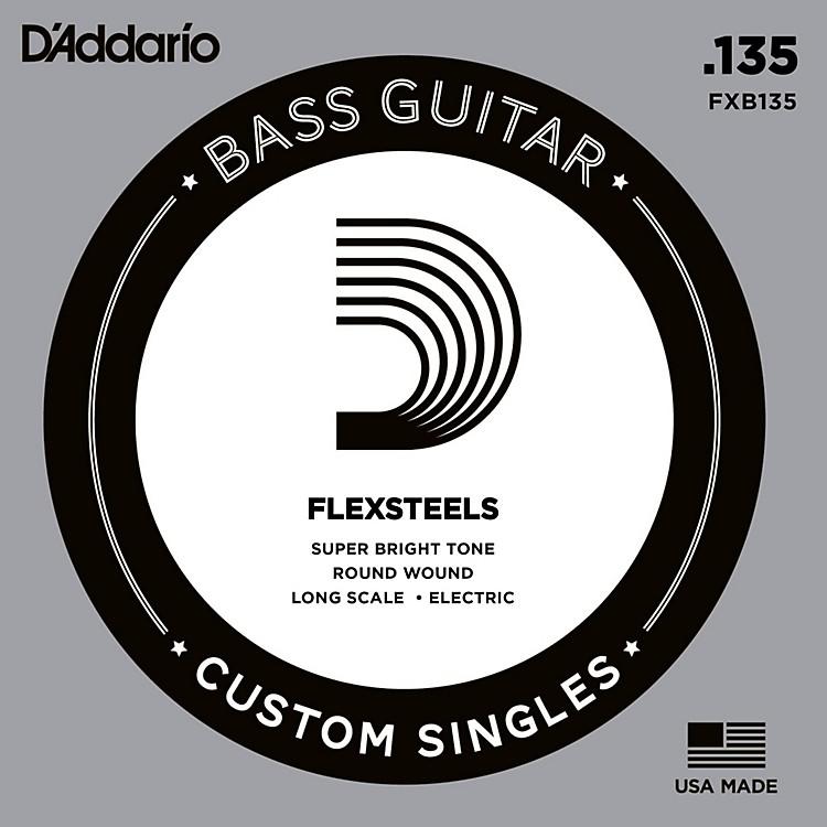 D'AddarioFlexSteels Long Scale Bass Guitar Single String (.135)