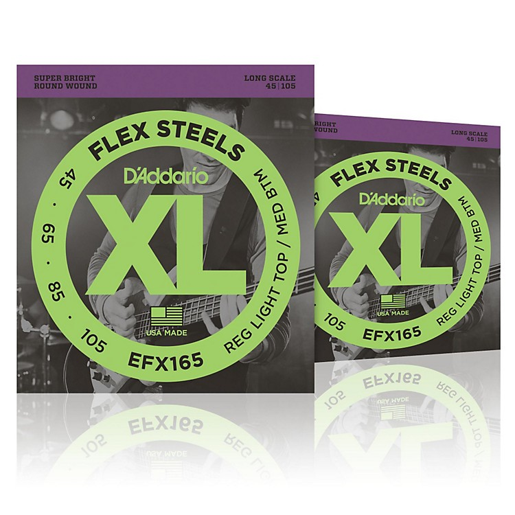 D'AddarioFlexSteels Long Scale Bass Strings (45-105) - 2-Pack