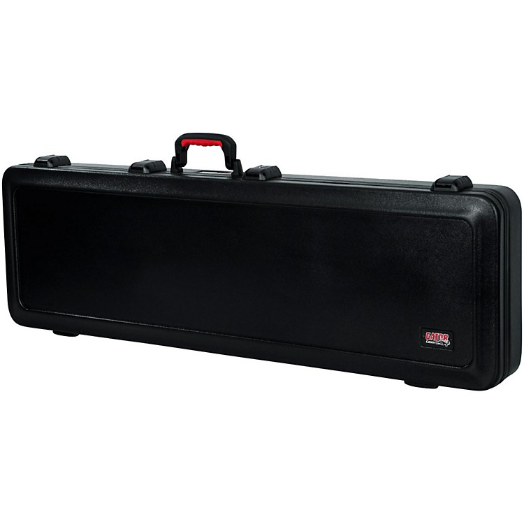 Gator Flight Pro TSA Series ATA Molded Bass Guitar Case Black Red