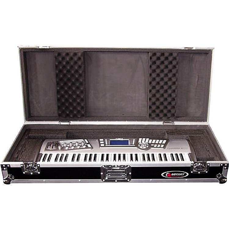 Odyssey Flight Zone: Keyboard case for 61 note keyboards with wheels