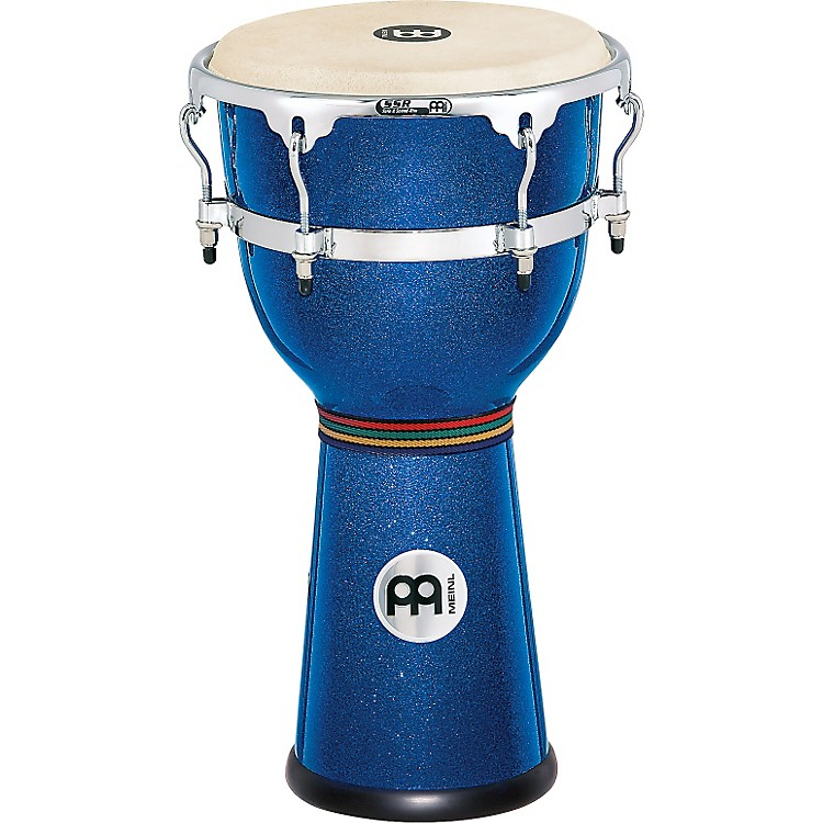 Meinl Floatune Series Fiberglass Djembe 12 in. Blue Sparkle