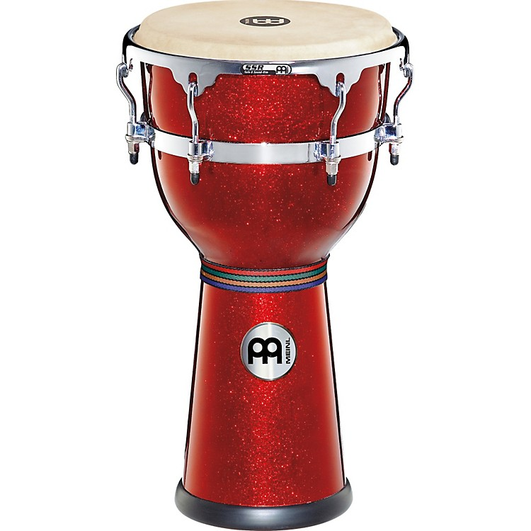 Meinl Floatune Series Fiberglass Djembe 12 in. Red Sparkle