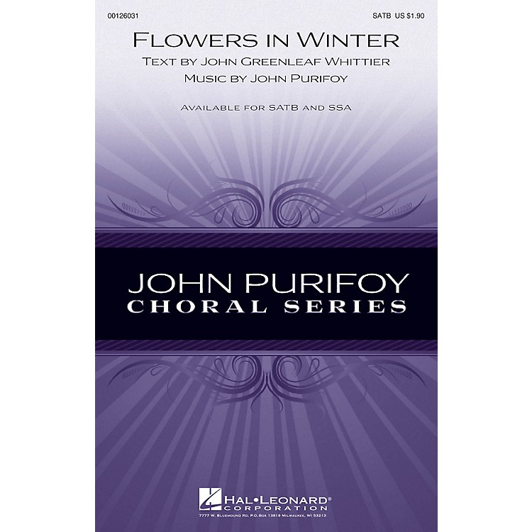 Hal LeonardFlowers in Winter SATB composed by John Purifoy