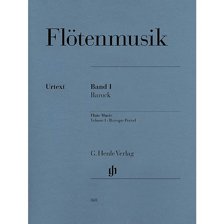 G. Henle VerlagFlute Music (Volume 1 - Baroque Period for Flute & Piano) Henle Music Folios Series Softcover