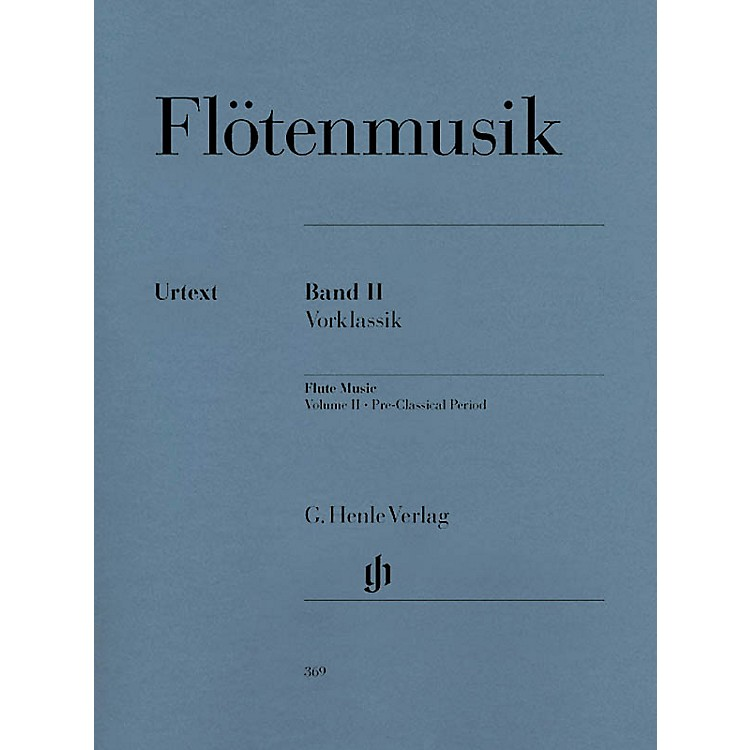G. Henle Verlag Flute Music (Volume 2 - Pre-Classical Period for Flute & Piano) Henle Music Folios Series Softcover