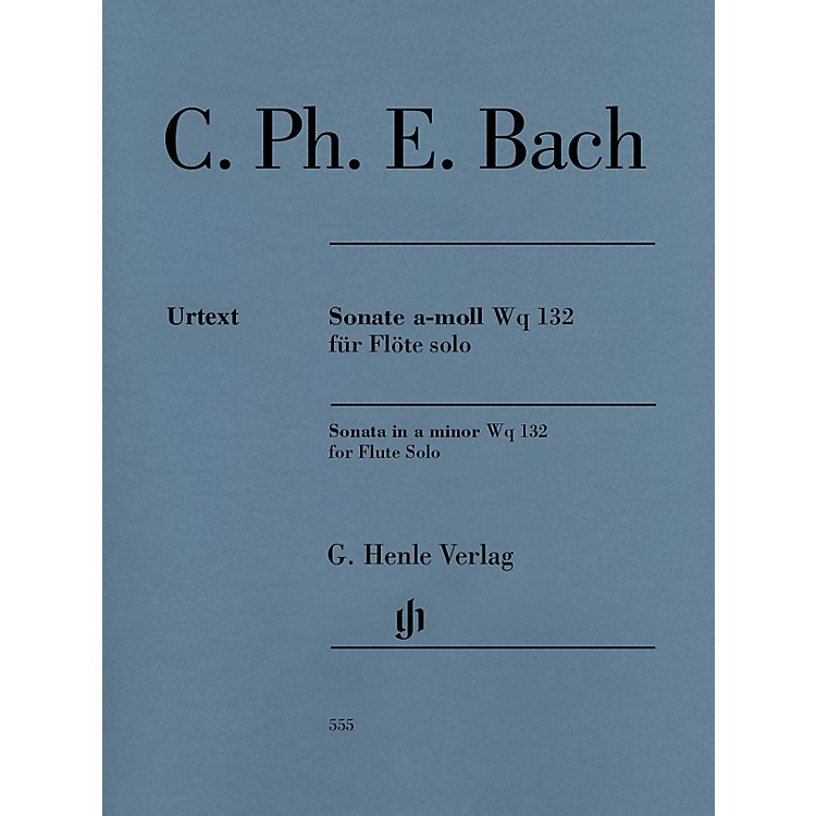 G. Henle VerlagFlute Sonata A minor Wq 132 Henle Music Softcover by Carl Philipp Emanuel Bach Edited by Marion Beyer