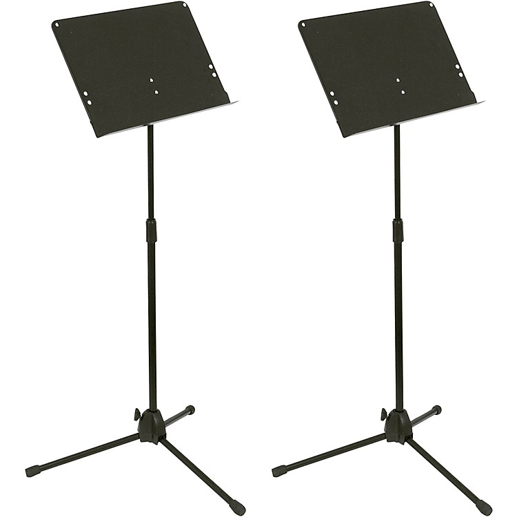 Musician's Gear Folding Music Stand 2-Pack Black
