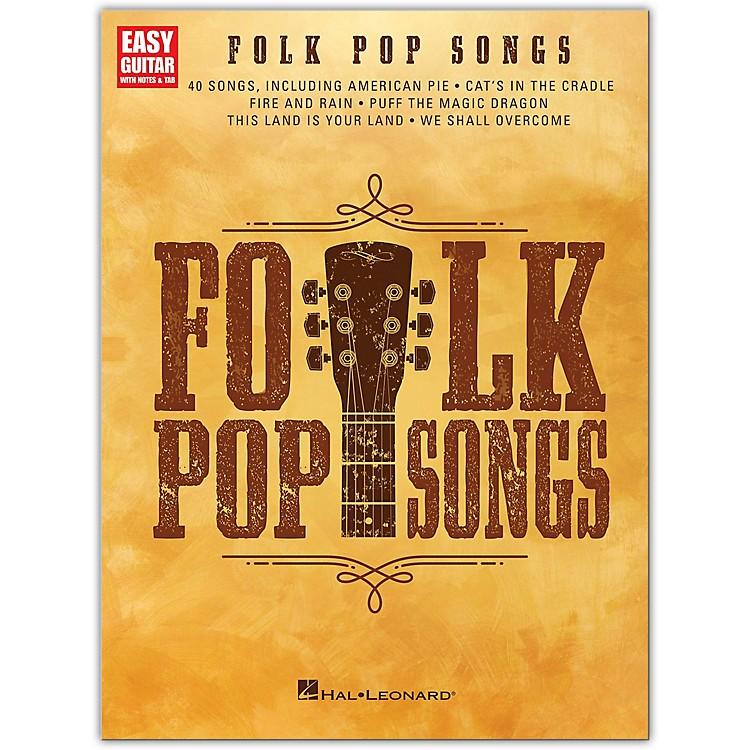 Hal LeonardFolk Pop Songs for Easy Guitar