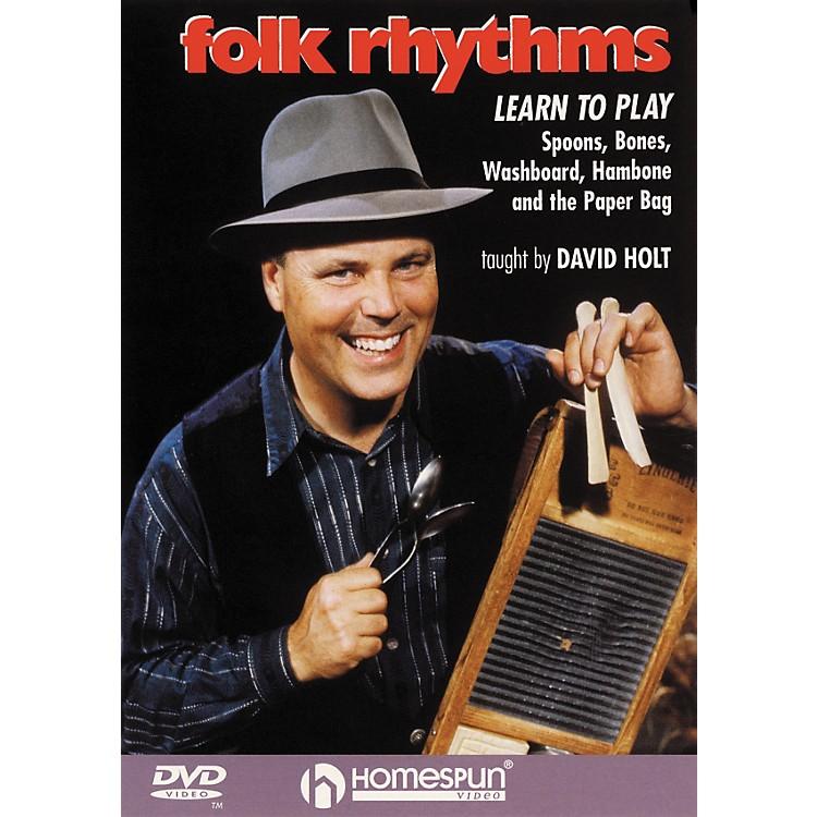 HomespunFolk Rhythms: Learn To Play Spoons, Bones, Washboard, Hambone and the Paper Bag (DVD)