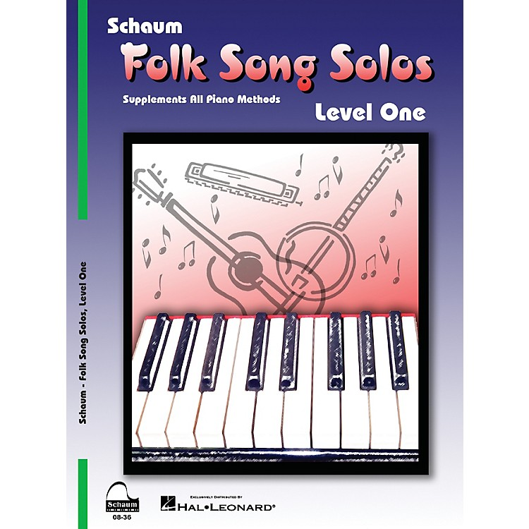 SCHAUM Folk Song Solos (Level 1) Educational Piano Book (Level Elem)